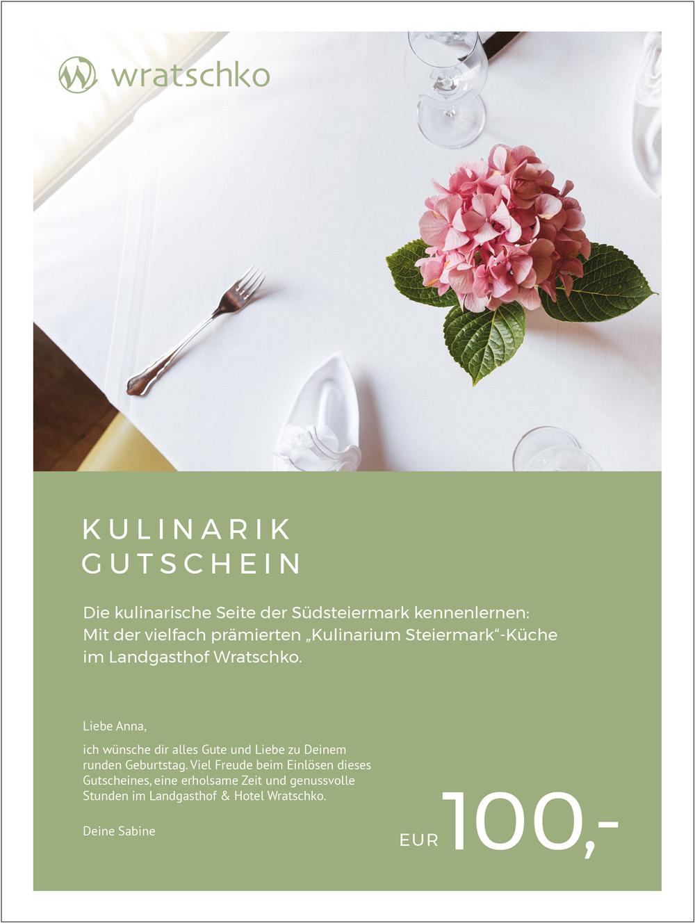 Kulinarik-Gutschein